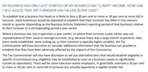 JobKeeper assess turnover decline