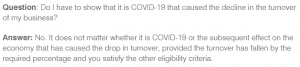 JobKeeper decline not due to COVID-19