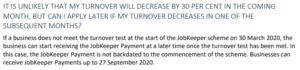 JobKeeper delay turnover decline