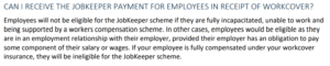 JobKeeper for employees on workcover